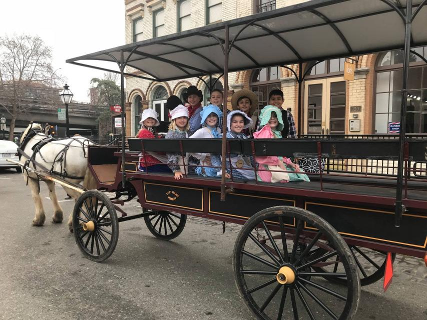 Students on a field trip in old Sacramento.